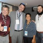 Mauricio Werner, da Riotur, Alexandre Gomes, do Pier Mauá, Cristina Fritsch, da Abav-RJ, e Rudolph Hasan, Companhia de Desenvolvimento da Região do Porto
