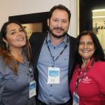 Melissandra Soares, da Transmundi, Pablo Zabala, da Discover e Marcia Galvão, da NCL