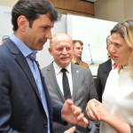 Ministro do Turismo com o deputado Vermelho e Tatiana Turra, do Curitiba Turismo