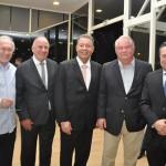 Neuso Rafagnin, do Rafain, João Jacob, da Paraná Turismo, Alexandre Sampaio, da CNC, Roy Taylor, do M&E, e Marcio Nunes, secretário de Estado do Paraná