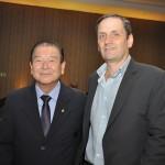 Orlando Kubo, da ABIH-PR, e Paulo Iglesias, do Curitiba CVB