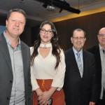 Pedro Kempe, Priscila Amaral, e Antonio Azevedo, da Abav-PR, com Roberto Bacovis, da Itá Thermas Resort