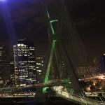 Ponte Estaiada e Marginal Pinheiros foram os cenários do jantar