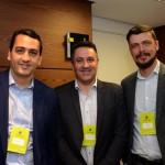 Renato Gomes e Levi Evangelista, da CSU, e Fernando Sampaio, da Tour House