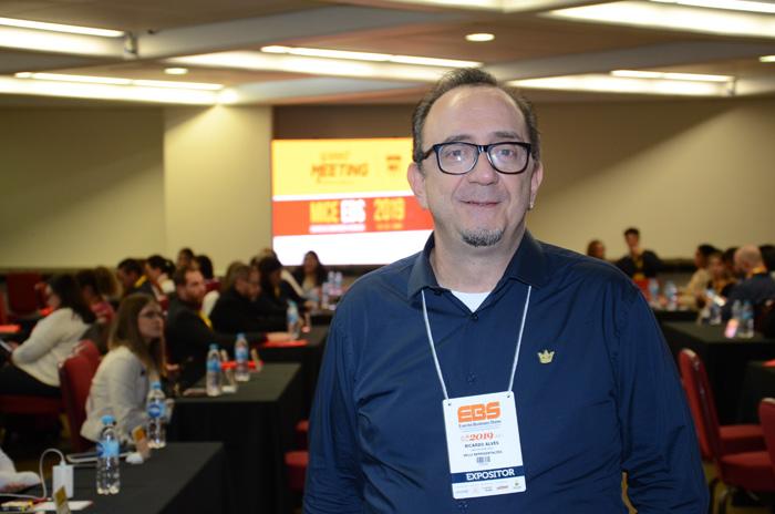 Ricardo Alves, diretor geral da Velle - representante exclusiva da AmaWaterways no Brasil - durante a EBS