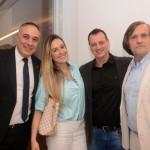 Roberto Affonseca, da MSC, Carol e Fábio Puccetti, da Viagens Total, e Jean-Phillipp Peról, da Cap Amazon