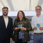 Roberto Nedelciu, da Braztoa, Magda Nassar, da Abav Nacional, e José Zuquim, da Ambiental