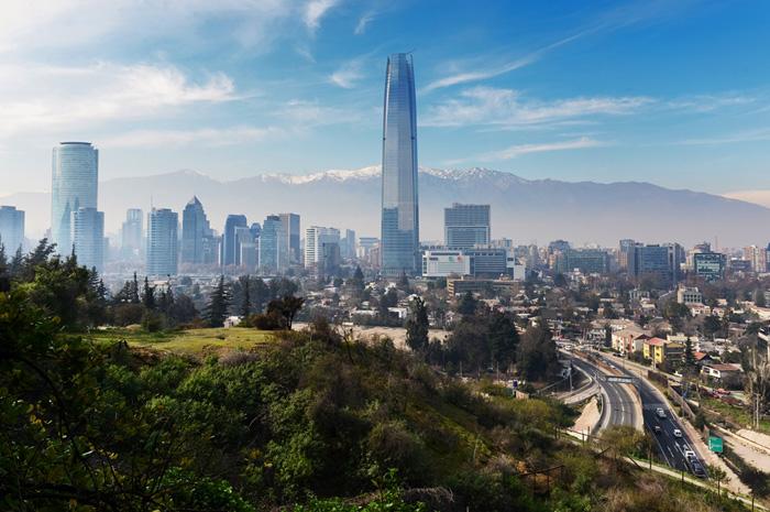 Vista de Santiago, capital chilena
