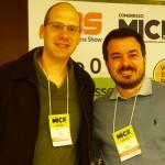 Simon Szacher, do Festival Pixel Show, e Felipe da Veiga, da Incentivarte Consultoria