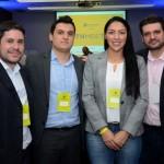 Thiago Feliciano, Heyder Aguirres, Cristeny Benjamin, e Marco Lucena, da Tour House