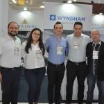 Thiago Gomes, do Itapema Beach, Andreia Golfe, do Wyndham Foz, Jefferson Luz, do Rayon, Ricardo Rufino, da Nobile, e Jorge Bartz, do Wyndham Foz