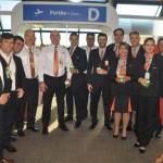 Tripulcação do primeiro voo direto Brasília-Cancún da Gol
