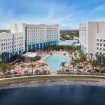 Visão aérea do novo hotel da Universal
