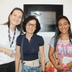 Vanessa Maia, da Promotional Travel, Rosane Balassiano, da Total Cruzeiros, e Joyce Machado, da Tour & Joy