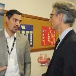 Vinicius Freitas, da Costa, conversa com Marco Ferraz, presidente da Clia Brasil