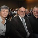 Virginia Carvalho com Aldo Cesar Carvalho, e Andre Poletti, da Paraná Turismo,