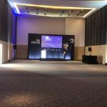 Área para eventos unindo duas salas do Cmarote Arena