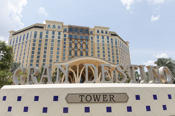 "The new Gran Destino Tower at Disney's Coronado Springs Resort opening July 9 at Walt Disney World Resort in Lake Buena Vista, Florida, takes its inspiration from the Disney animated short film ""Destino."" (Steven Diaz, photographer)"
