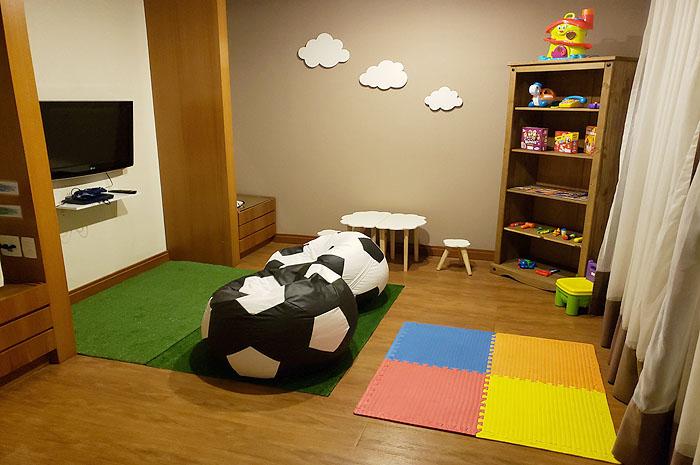 Com aumento da demanda de famílias aos fins de semana, o hotel criou a Kid's Room