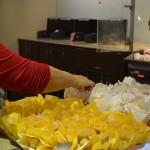 Opções de snacks oferecidos na entrada da sessão