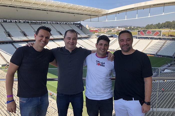 Alexandre Pinto e Renato Kiste, da Shift, com Raffaele Cerere, do Grupo R1, e Alessandro Tomazelli, da Companhia do Tomate