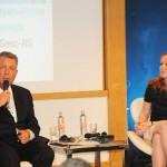 Alexandre Sampaio, presidente do Conselho de Turismo da CNC, e Maria Helena, do Sesc-RS