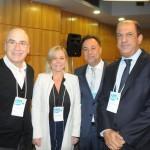Antonio Florencio, da Fecomério-RJ, Vanessa Mendonça, secretária de Turismo do DF, Aluizer Malab, do MTur, e Antonio Henrique, do Senac