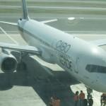 Avião que fez a nova rota Roma - Ilha do Sal