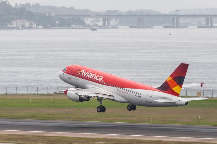 Avianca operou na rota com aeronaves Airbus A319