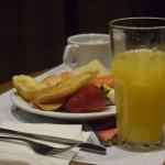 Café da manhã servido durante road show da ATAS Brasil