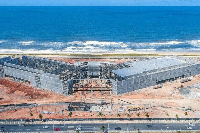 Centro de Convenções de Salvador chega a 50% das obras concluídas.