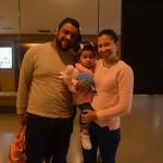 Cristiane Santos junto ao seu marido Leonardo e sua filha Laura da Place Tour