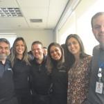 Marcelo Patelli, Luciana Pereira, Alexandre Ramos e Karoline Lima da trend ao lado de Natalia Moura e Rodrigo Galvão da CVC Corp