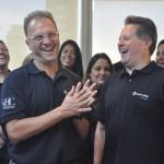Luiz Fernando Fogaça, CEO da CVC Corp e Maurício Favoretto, Diretor da Trend comemoraram juntos o aniversário da consolidadora