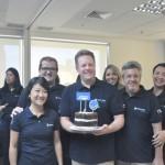 A equipe da Trend e da CVC Corp marcaram presença na comemoração
