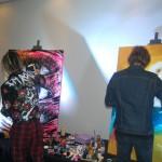 O evento também contou com a presença de artistas plásticos