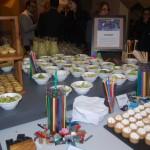 As estações de comida traziam alimentos ideias para o objetivo de cada cliente