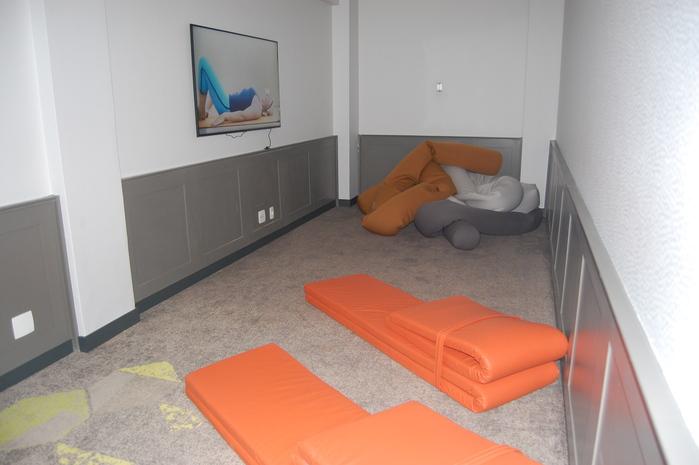 O Ioga Room foi pensado para que os clientes possam relaxar nos intervalos das reuniões