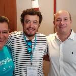 Edson Ruy (Ancoradouro, Campinas), Luiz Carlos Junior (Hangar Turismo, Bauru) e Alexsandro Haim (R11 Travel)