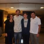 Kleber Silva, da Abreutur juntamente à sua família Fabiana, Eduardo e Felipe.