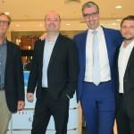 Fábio Lessa, João Manzella, Seth van Straten e Felipe Dias, da Air France-KLM