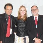 Geraldo Linzmeyer, da CHA, Maria Helena, do Sesc-RS, e Milton Zuanazzi, da Abrastur