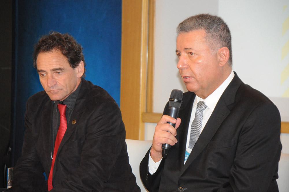 Geraldo Linzmeyer, do CHA, e Alexandre sampaio, da Citur da CNC