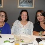 Graça Medina, da Blumon, Eliane Costa, da Friends Viagens, e Adriana Charneca, da Charneca Viagens