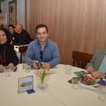 Guadalupe Garcia e Tito Galdamez, da GG Turismo, e Carlos Chehin, da See the World