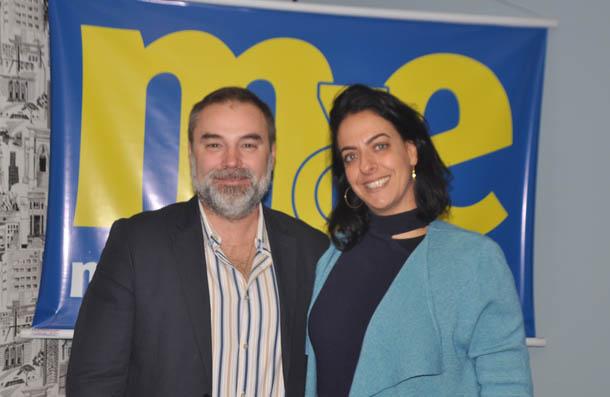 Gustavo Mesa, gerente Comercial da Bahia Prince na América Latina; e Alessandra Savoia, representante da Bahia Prince no Brasil