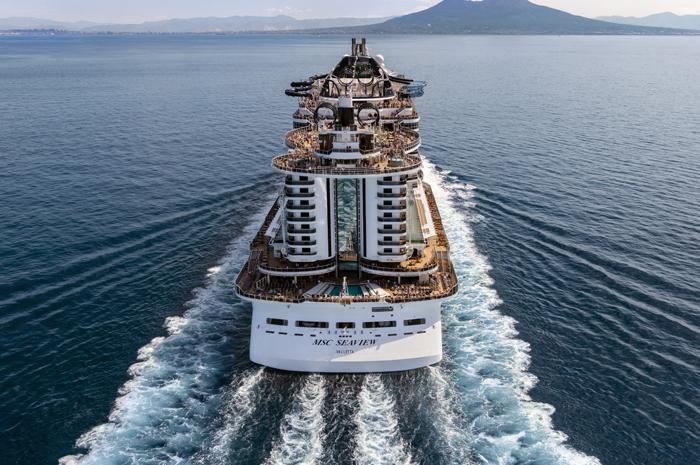 MSC Seaview é um dos navios que a MSC traz ao Brasil para a temporada 2020-2021