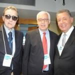 Marcio Favilla, da OMT, com Eraldo Cruz e Alexandre Sampaio, da CNC