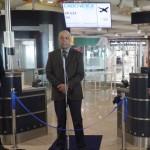 Marco Gobbi, gerente de Desenvolvimento de tráfego do Aeroporto de Fiumicino, embaixador Jorge Gonçalves,  e Mario Chaves