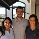 Mariana Watzeck (Delta), Marcelo Correia (Air France) e Carina Tosello (Gol)
